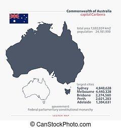 australia - Commonwealth of Australia isolated maps and...