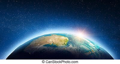 australia, espacio