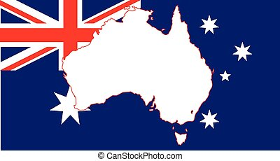 Australia Flag and Map