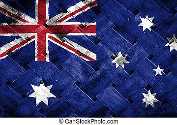Australia flag , Australia flag on Weave Bamboo