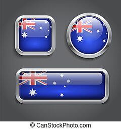 Australia flag buttons