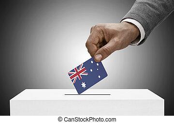 australia, flag., -, concepto, negro, tenencia, votación,...