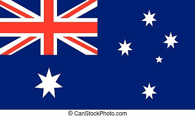 australia Flag for Independence Day and infographic Vector illustration.