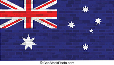 australia flag illustration design graphic