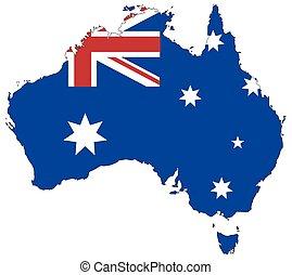 Australia Flag In Map