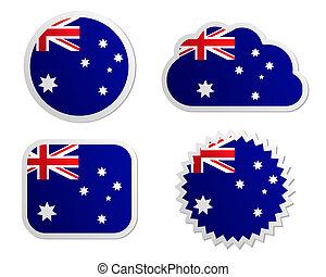 Australia flag labels