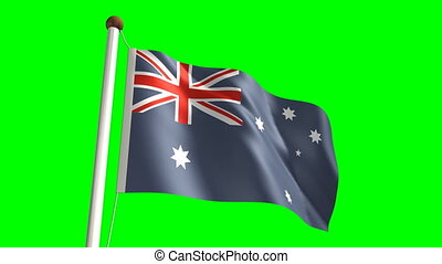 Australia flag (Loop & green screen