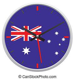 Australia flag on clock
