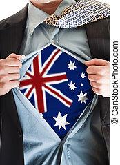 Australia flag on shirt