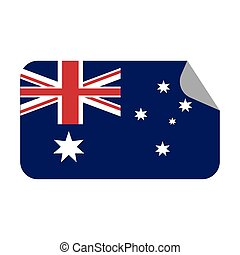 australia flag patrotic country sticker