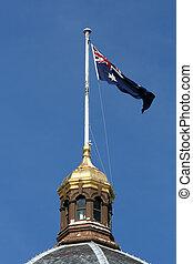 Australia Flag Pole - Carlton Gardens, Melbourne, Australia