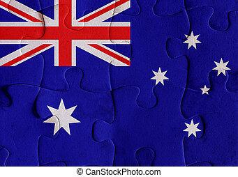 Australia flag puzzle