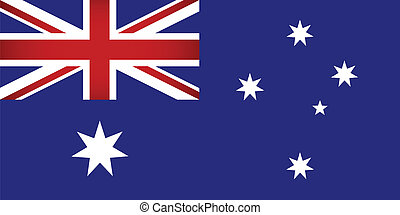 Australia Flag. Vector illustration.