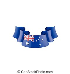 Australia flag, vector illustration on a white background.