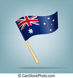 Australia flag, vector illustration