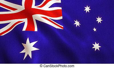 Australia Flag Waving - Australian Background