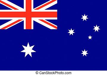 Australia flag with text