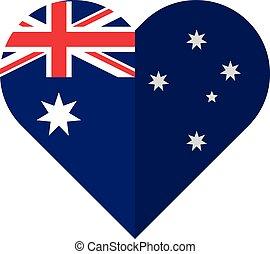 Australia flat heart flag