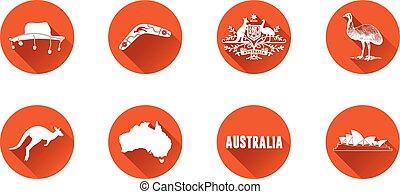 Australia Flat Icon Set 2.eps