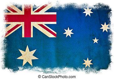 Australia grunge flag