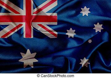 Australia grunge waving flag