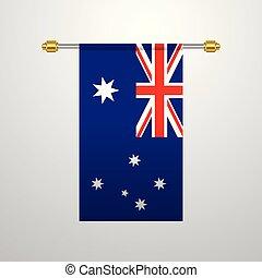 Australia hanging Flag