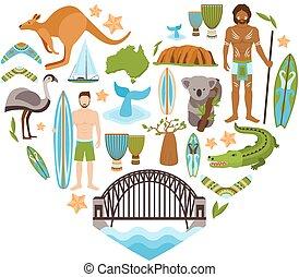 Australia Heart Shape - Australia travel tourism and...