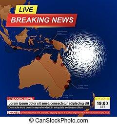 Australia hurricane news background - Breaking news with ...