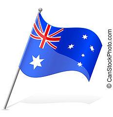 australia lobogó, vektor, ábra