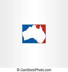 australia logo map vector icon