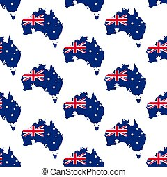 Australia map and flag pattern