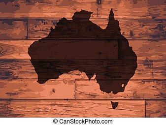 Australia Map Brand