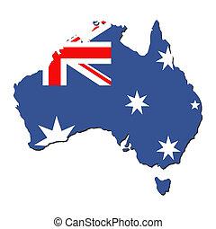 Australia map flag - map of Australia and Australian flag...