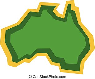 Australia Map Geography Shape
