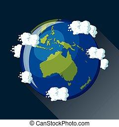 Australia globe icon.