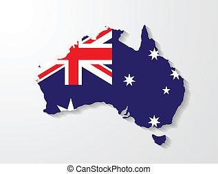 Australia map presentation