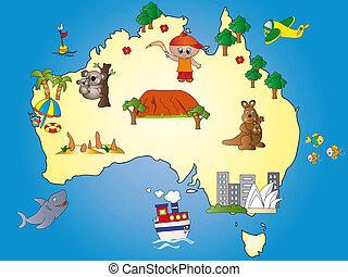 australia, mappa