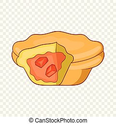 Australia meat pie icon, cartoon style