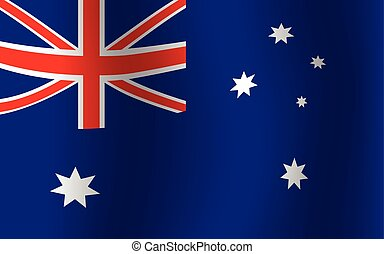Australia National Flag Waving Flat