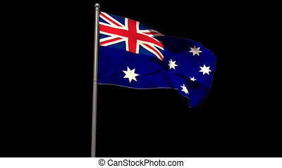 Australia national flag waving