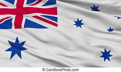 Australia Naval Ensign Flag Closeup Seamless Loop
