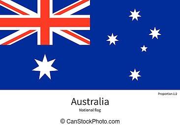 australia, nazionale, colori, bandiera, proporzioni, elemento, corretto
