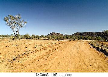 Australia, Northern Territory - Australia, unsealed road in...