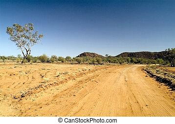Australia, Northern Territory - Australia, unsealed road in ...