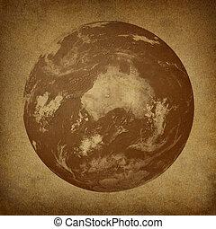 Australia On An Old  World Globe