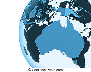 Australia on translucent Earth - Australia on translucent...