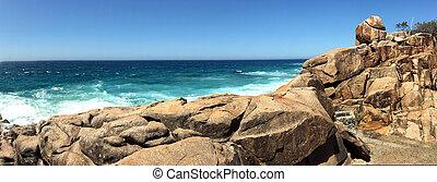 australia, ovest, pietre, sud, nuovo, galles, paesaggio