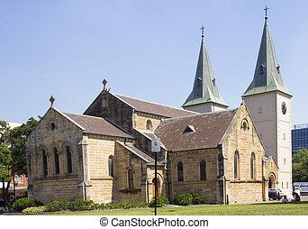 australia, parramatta, c/, catedral, john's, nsw