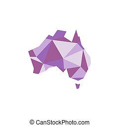 Australia polygonal silhouette