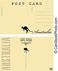australia, postale, scheda